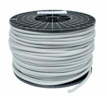 Kabel grijs 2x1,5mm² aders zwart/rood per meter
