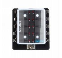 Zekering distributie 10 met led signalering / opbouw